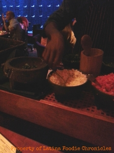Rosa Mexicano Server Making Guacamole