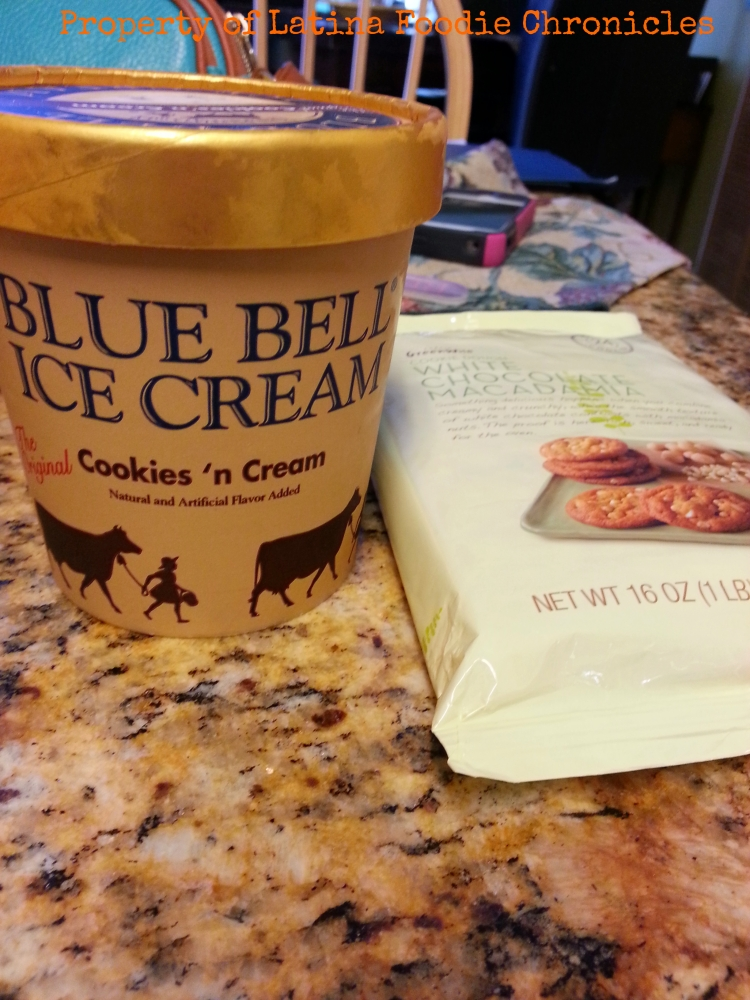 Blue Bell Ice Cream and Publix brand cookies