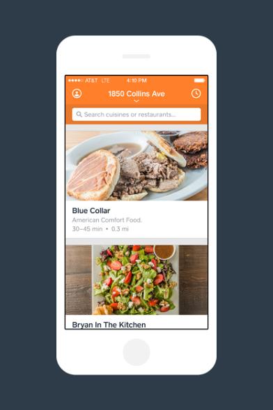 Caviar Phone App View